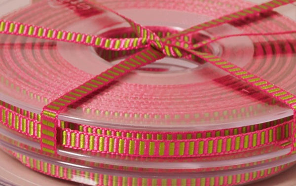 Premium Decorative Ribbon, 20m roll - Skinny Candy Stripe