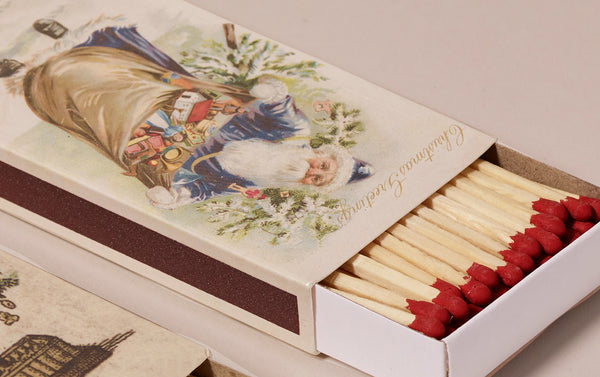 John Derian Decorative Christmas Match Boxes