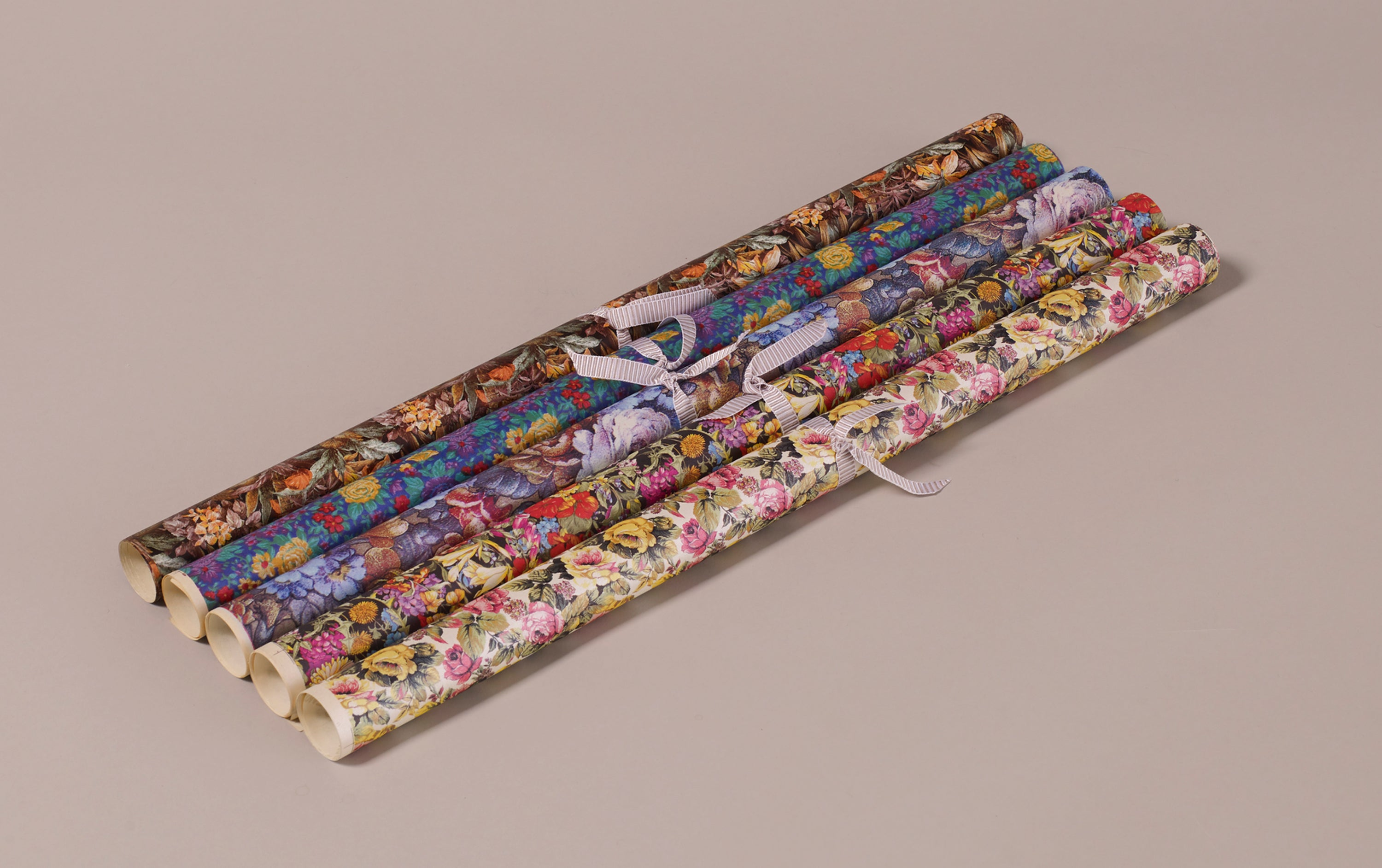 Assorted Vintage Floral Wrapping Papers