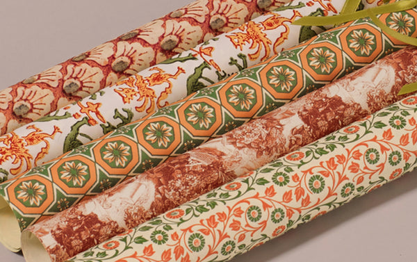 Assorted Persimmon Wrapping Papers