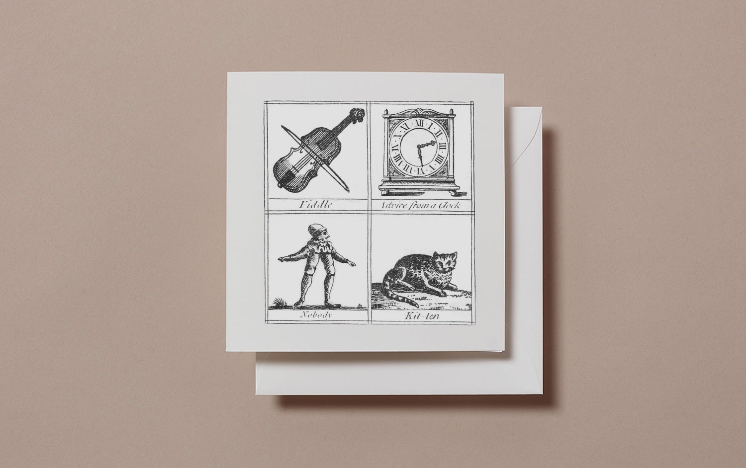 Square Miscellany Greeting Card, Fiddle