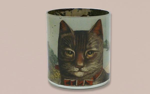 John Derian Desk Pencil Cup, Country Cat