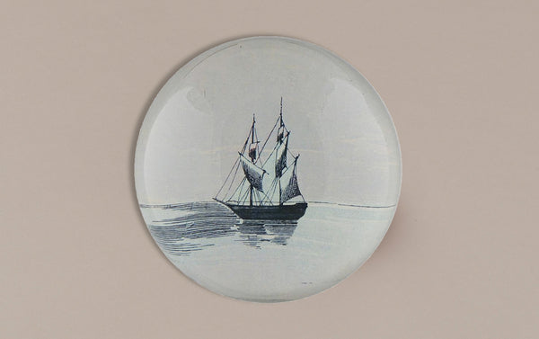 John Derian Paperweight, Ship at Dusk