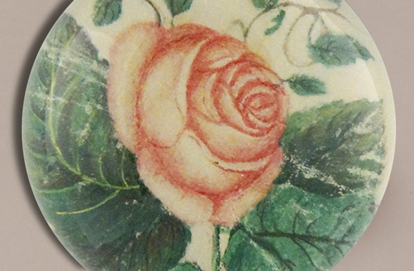 John Derian Paperweight, Silk Rose