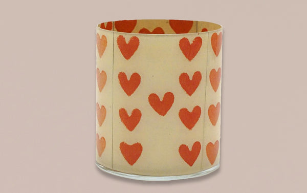 John Derian Desk Pencil Cup, Hearts