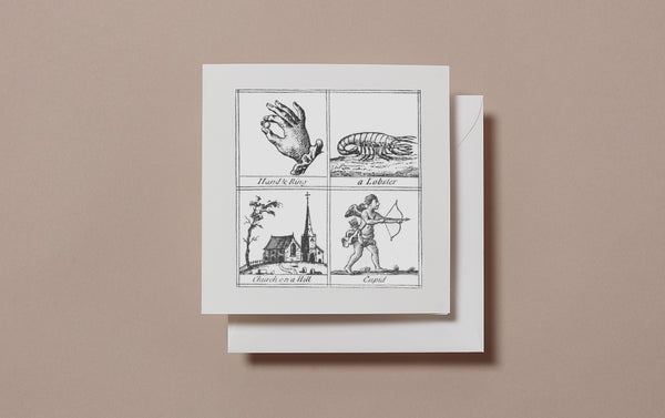 Square Miscellany Greeting Card, Love Lobster