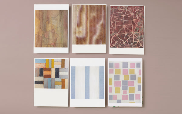 Set of 6 Abstract Art Postcards