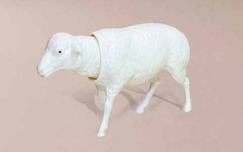 Bobble Head Nostalgic White Sheep
