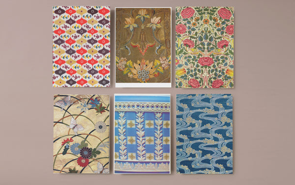 Set of 6 Pattern Art Postcards