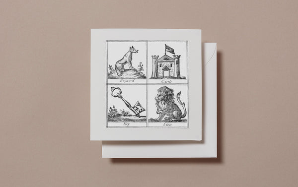 Square Miscellany Greeting Card, Reynard