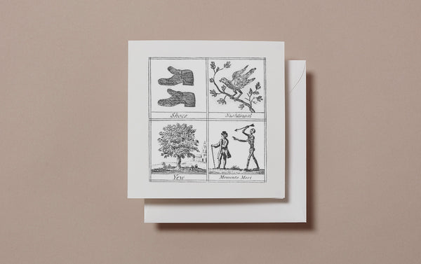 Square Miscellany Greeting Card, Shoes