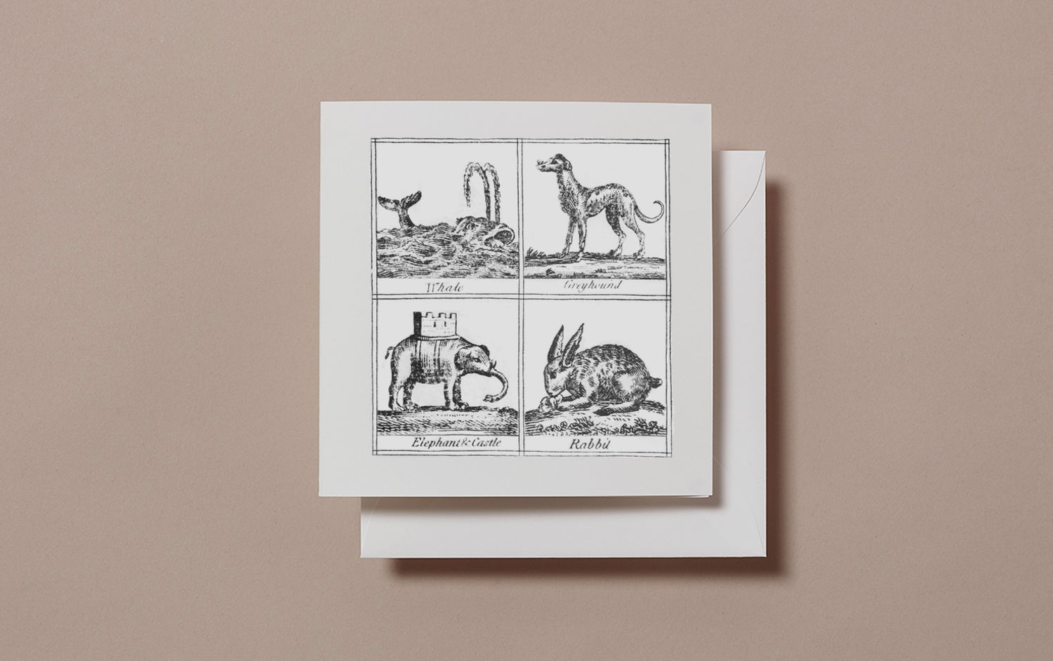 Square Miscellany Greeting Card, Whale