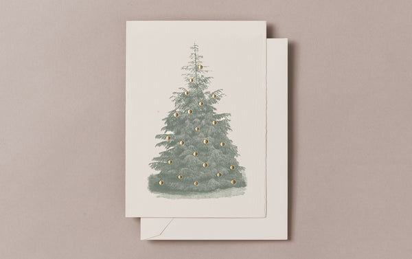 Letterpress foiled Fir Tree Christmas Card