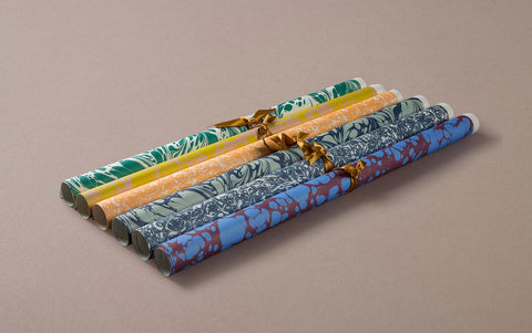 Printed Marbled Wrapping Paper