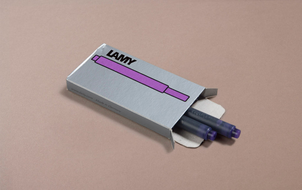 Purple Lamy 5 Pack Ink Cartridges