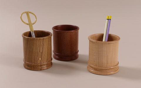 Hand Turned Wooden Desk Cup