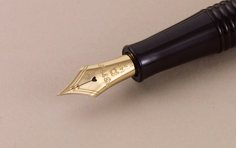 1978 Platinum #3776 Black Gathered Fountain Pen