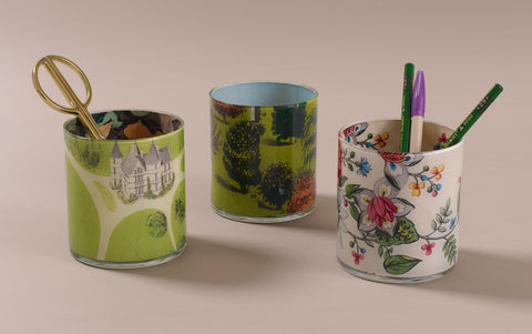 John Derian Desk Pencil Cup, pattern selection 2