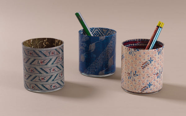 John Derian Desk Pencil Cup, pattern selection 1