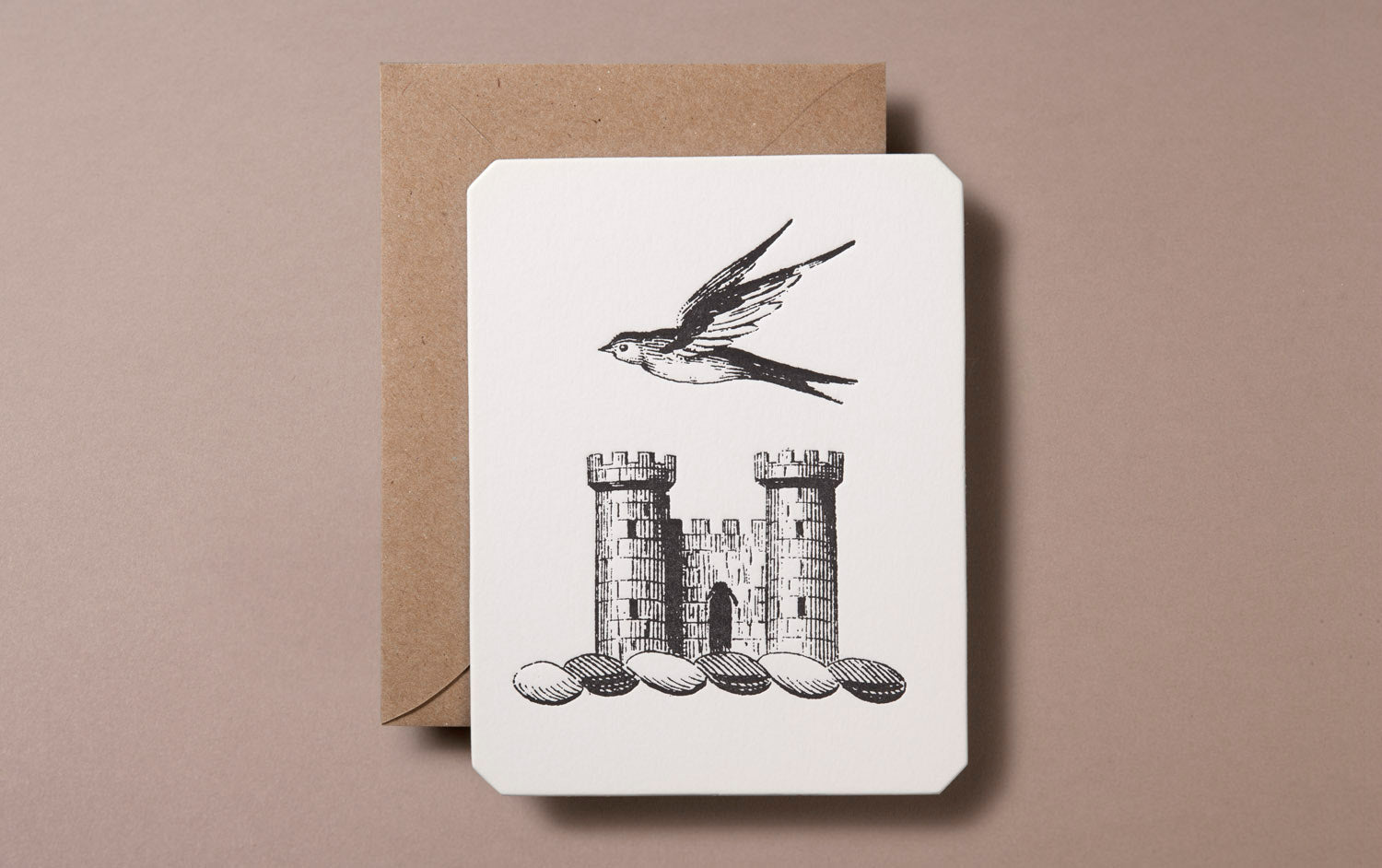 Letterpress Castles in the Air Greeting Card