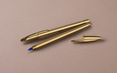 Anniversary Special Edition Gold Ballpoint Pen, Blue Ink