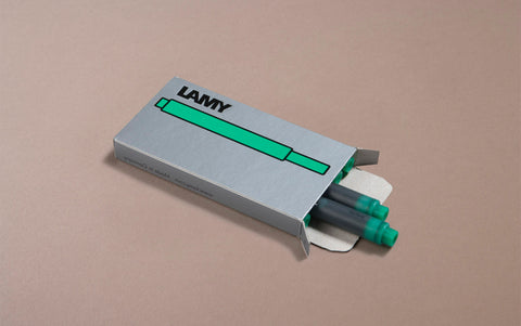 Emerald Green Lamy 5 Pack Ink Cartridges