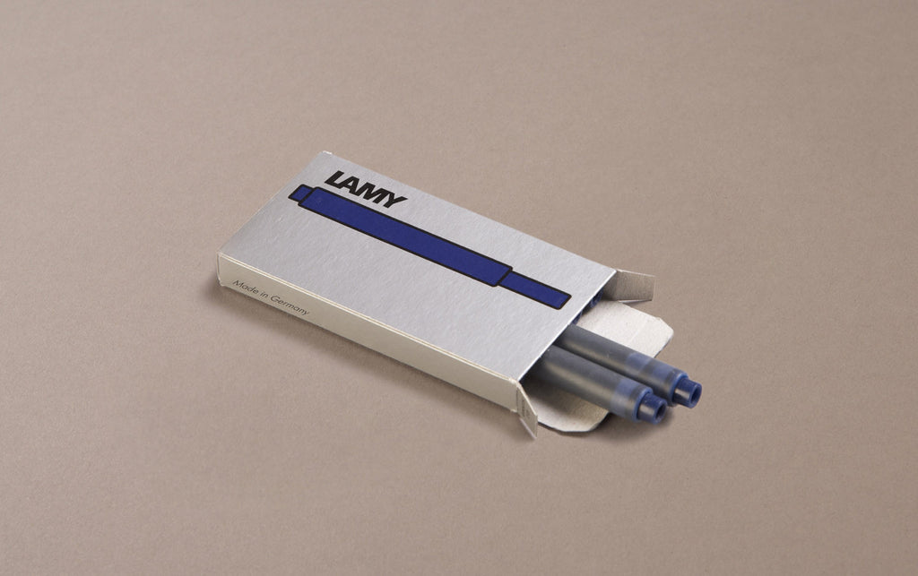 Navy (Blue Black) Lamy 5 Pack Ink Cartridges