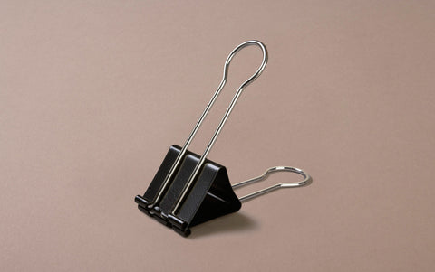 Black Extra Large Bulldog / Binder Clip