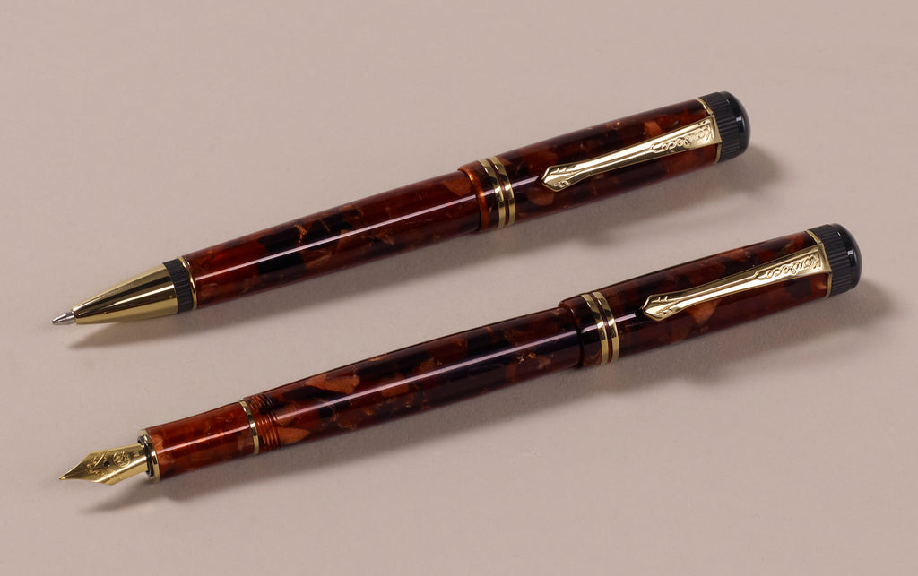 Kaweco Dia 2 Fountain Pen and Ballpoint, Limited Edition Amber Set