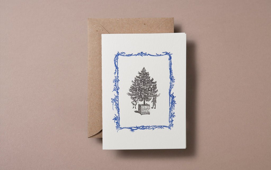 Letterpress Christmas Tree Card