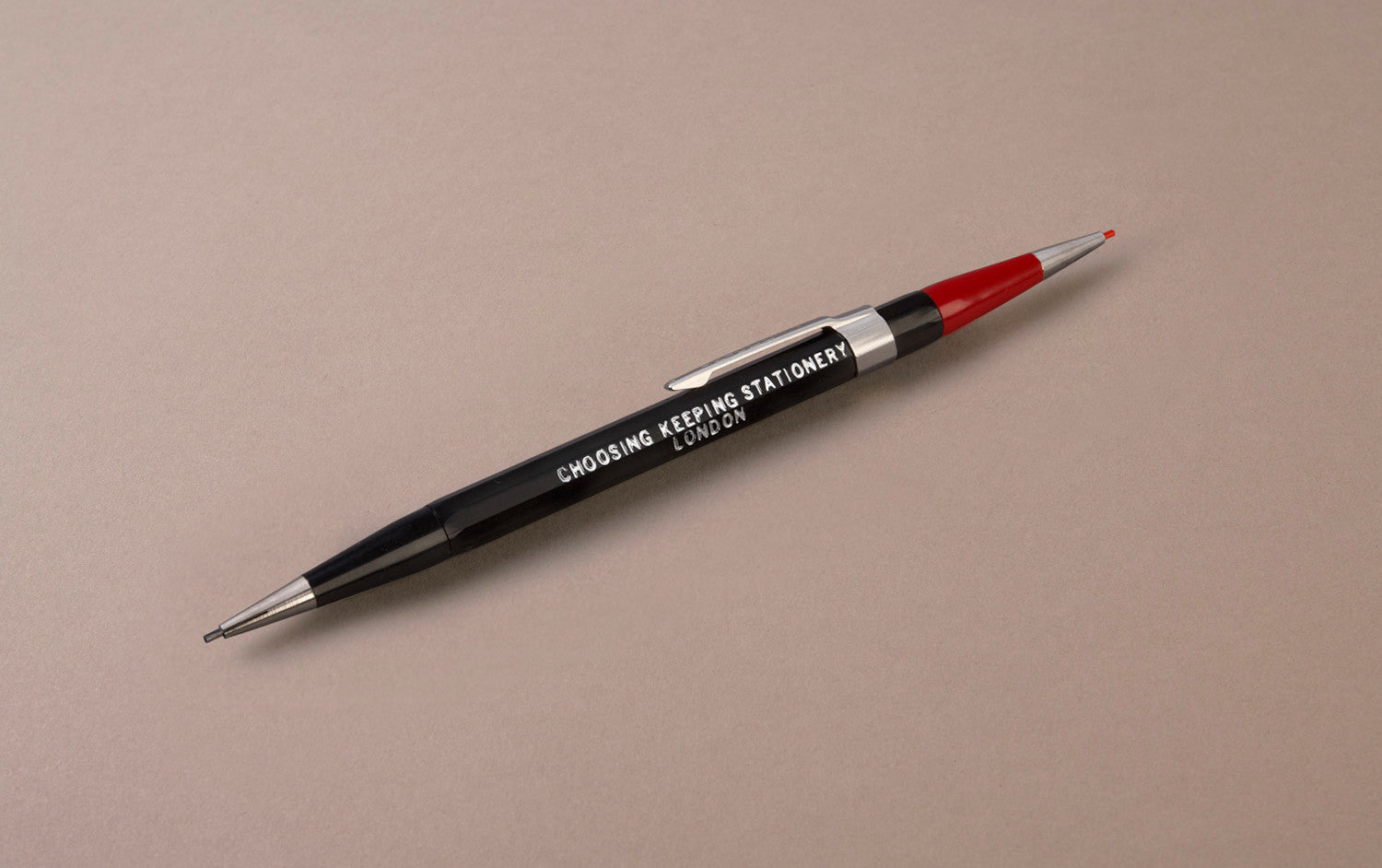 Black Choosing Keeping Twin 1.1mm Mechanical Pencil - Red and Graphite