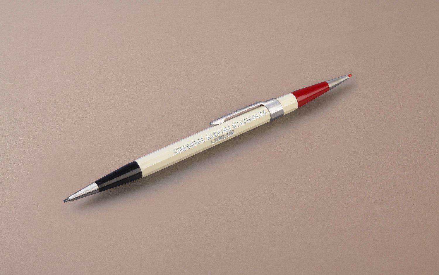 Ivory Choosing Keeping Twin 1.1mm Mechanical Pencil - Red and Graphite