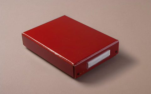 Red Faux-lacquer Storage Box
