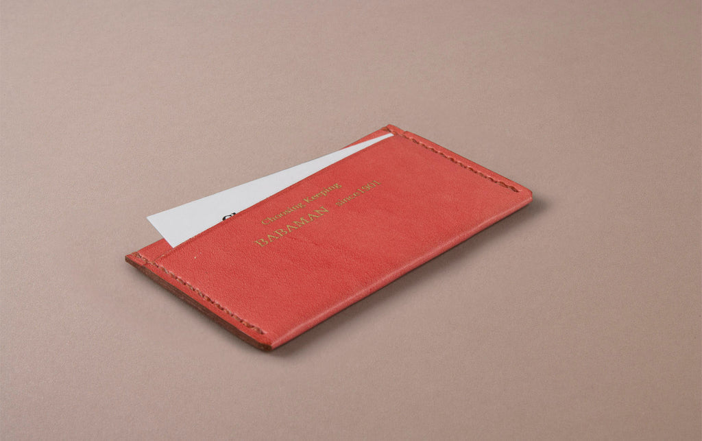 Pink Choosing Keeping Card Holder