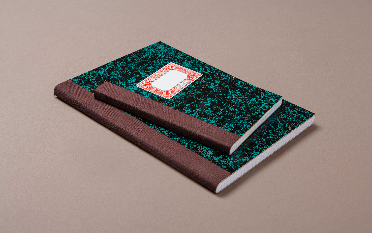 Miquelrius Black and Green Marbled Composition Notebook