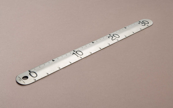 Folle 30cm / 12 inch Stainless Steel Ruler