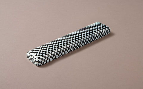 Small Checkered Celluloid Pen Case