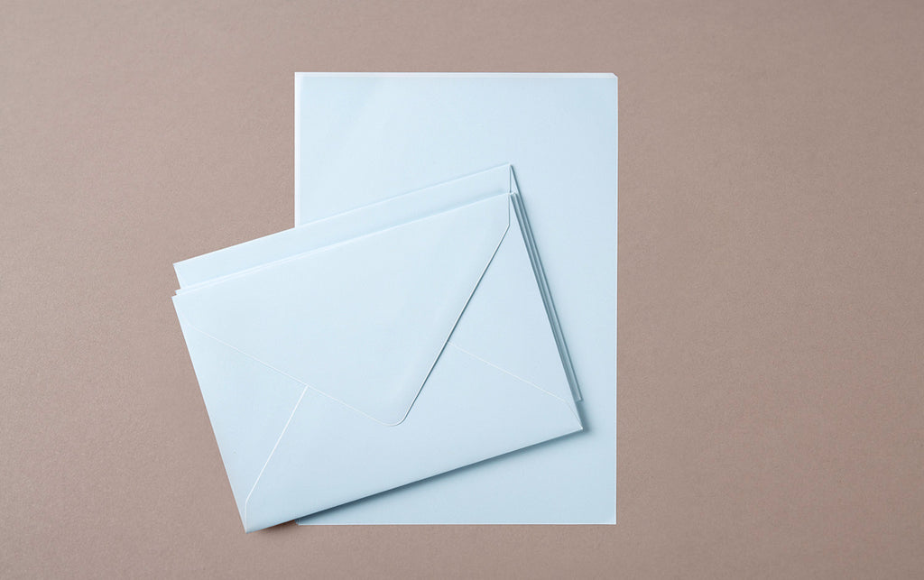 A5 - 5 Sheets 5 Envelopes - Letter Writing Set Blue/White