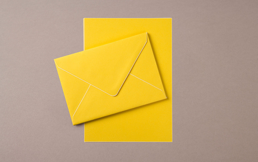 A5 - 5 Sheets 5 Envelopes - Letter Writing Set Yellow/White
