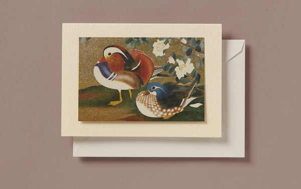 Matte Gold Foil Ducks Greeting Card
