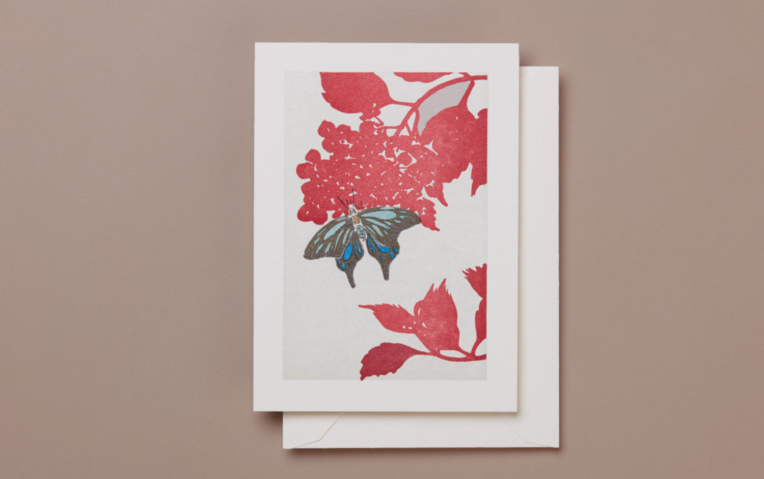 Letterpress Butterfly Greeting Card