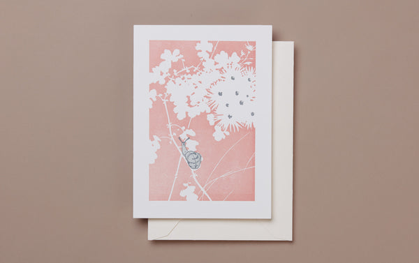 Letterpress Snail Greeting Card