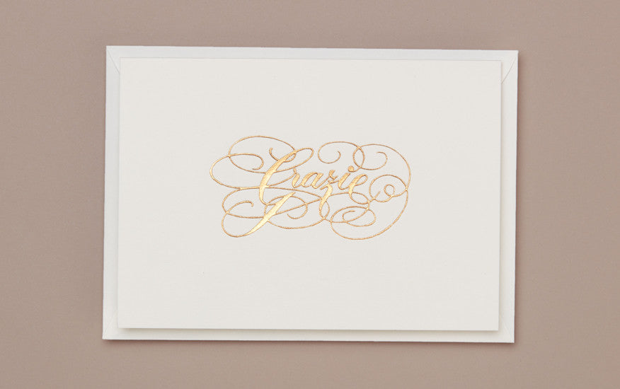 Engraved Grazie Greeting Card