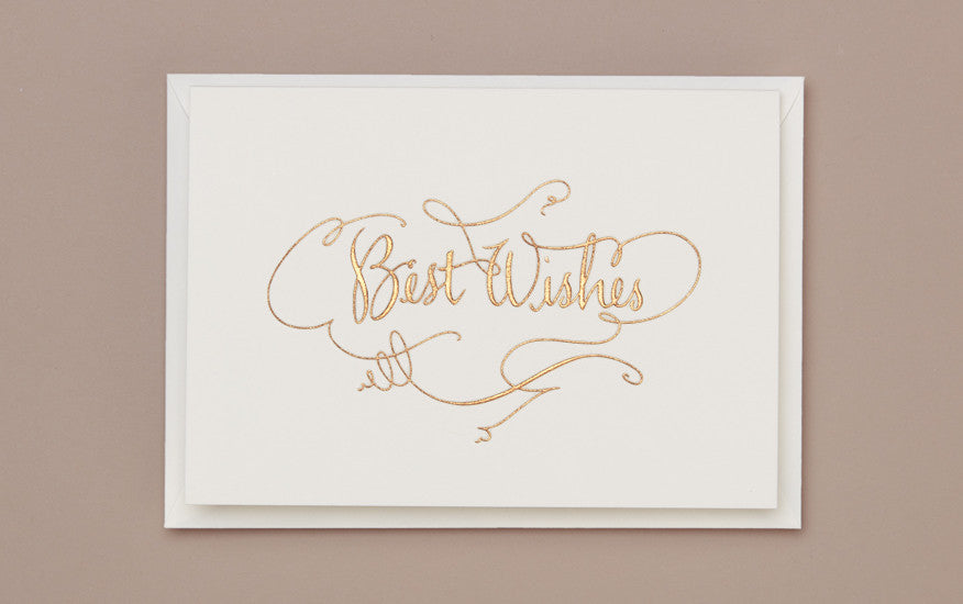 Engraved Best Wishes Greeting Card