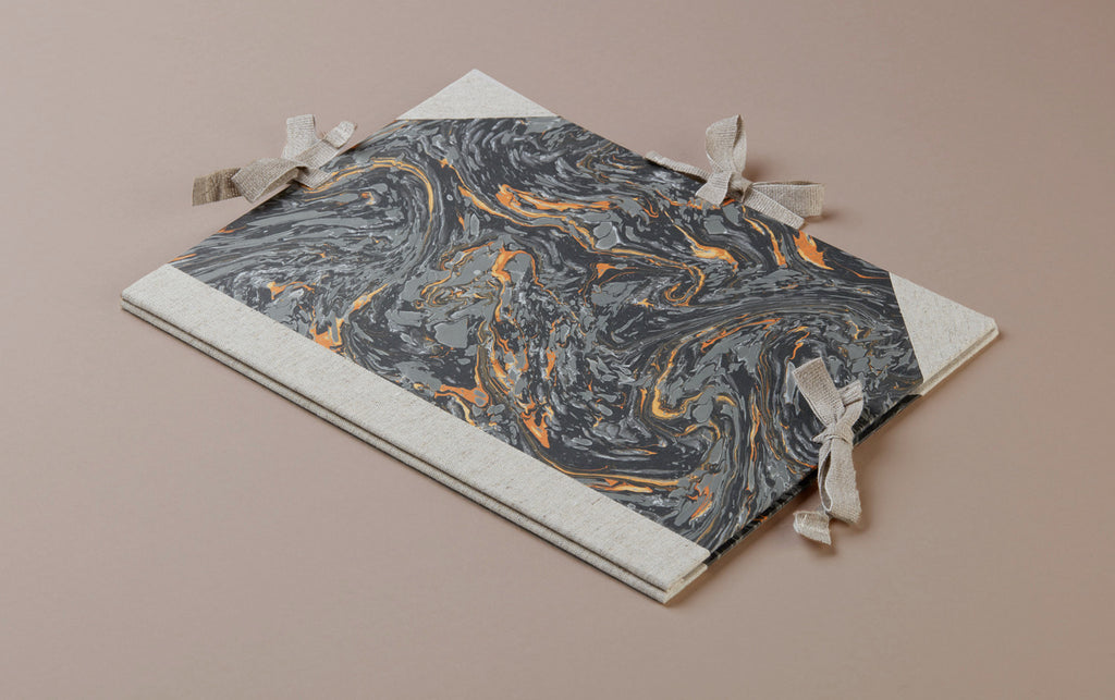 Marbled Presentation Portfolio Folder - Grey