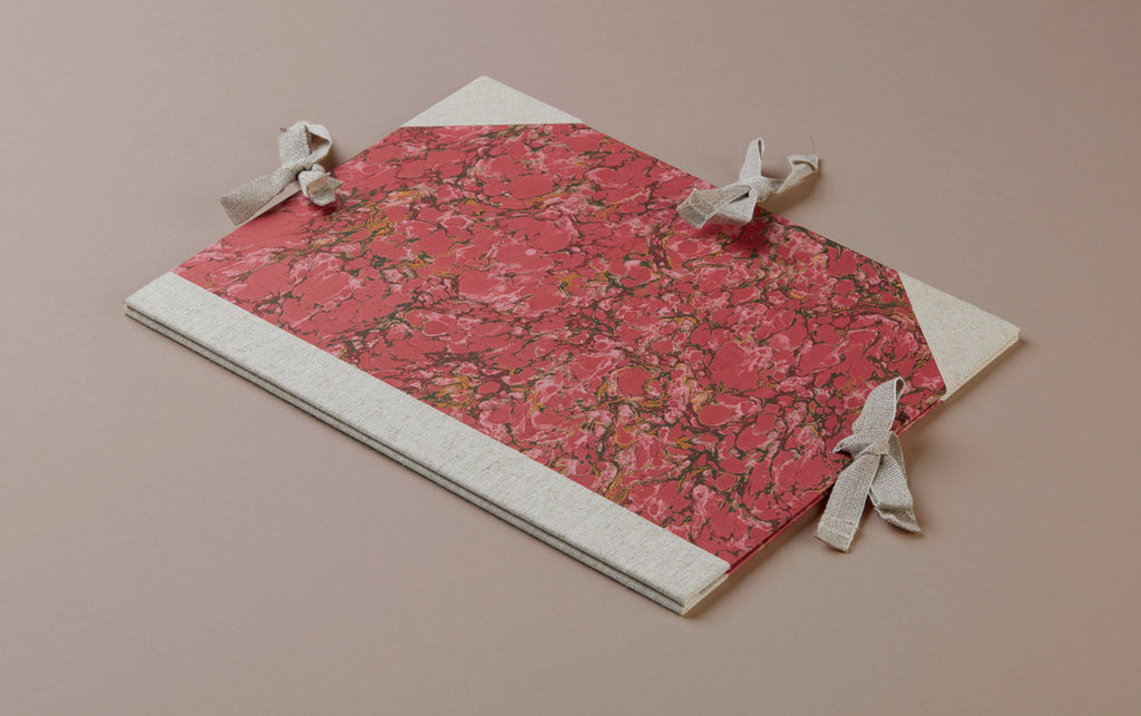 Marbled Presentation Portfolio Folder - Red