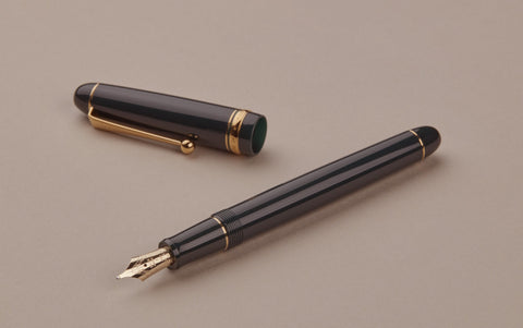 Green Pilot Custom 74 Fountain Pen, Broad Nib