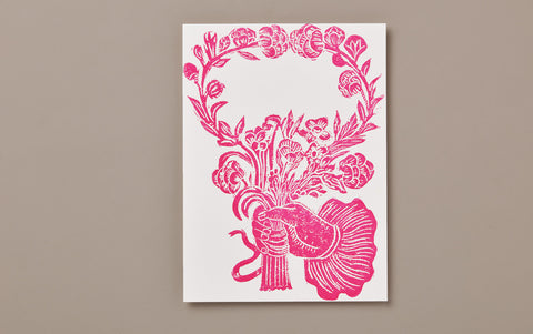 Rose Hand and Roses Print