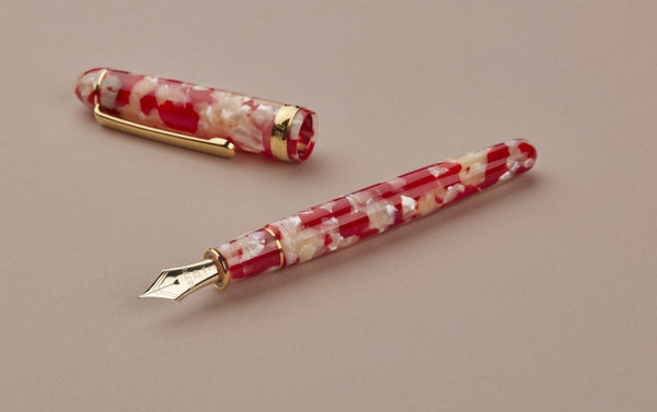 Red Koi Fish Celluloid Platinum 3776 Fountain Pen