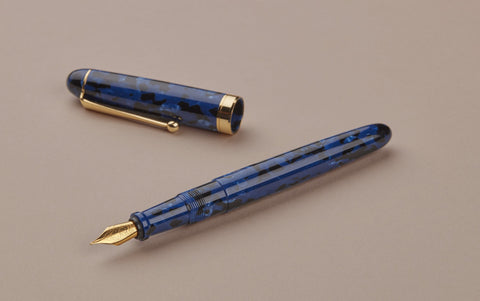 Ohnishi Seisakusho Blue Marble Acetate Fountain Pen